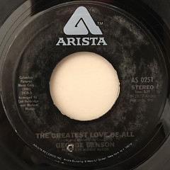 GEORGE BENSON:THE GREATEST LOVE OF ALL(LABEL SIDE-A)