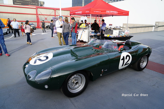 Jaguar E-Type Racer at Petersen Automotive Museum Breakfast Club Cruise-In