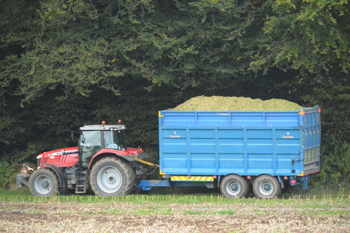 Massey Ferguson 7620 Tractor with a Broughan Engineering Trailer