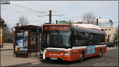 Iveco Bus Urbanway 12 GNC - Setram (Société d'Économie Mixte des TRansports en commun de l'Agglomération Mancelle) n°207
