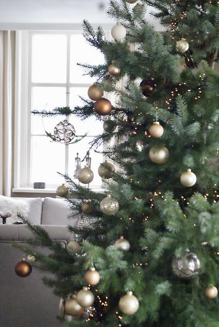 Kerstboom landelijke stijl