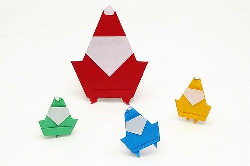 Origami Santa Claus (Stéphane Gigandet)