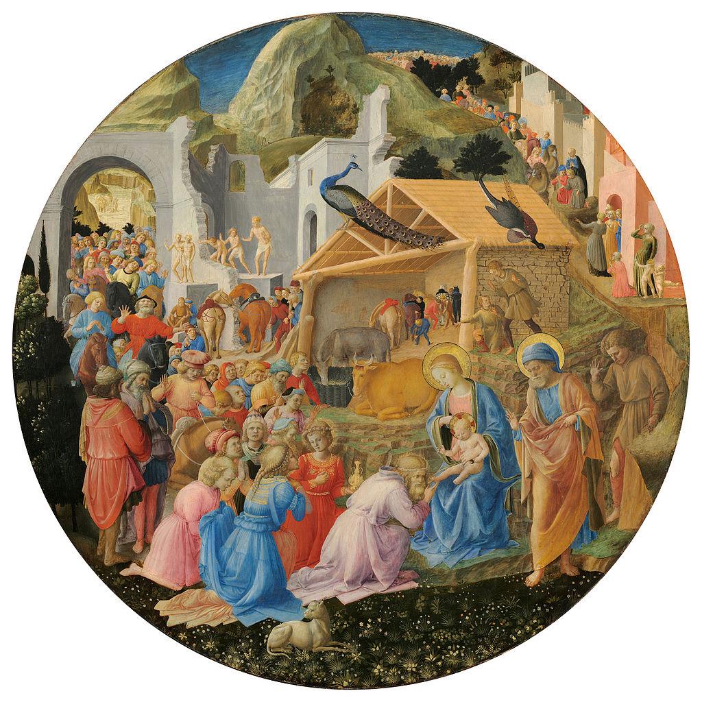 Adoration of the Magi, tondo by Fra Angelico and Filippo Lippi, c. 1450 (NGA, Washington)