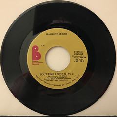 MAURICE STARR:BOUT TIME I FUNK U(RECORD SIDE-B)