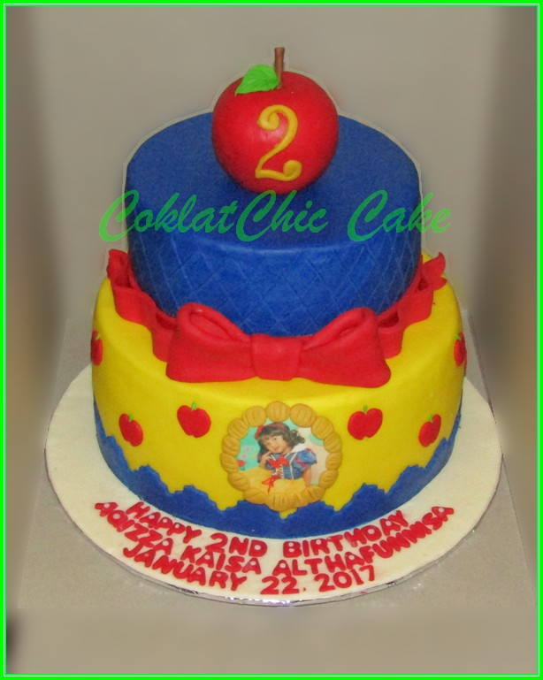 Cake Snow White AQIZZA 20cm+15cm