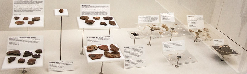 Objects of the Lapita culture in Otago Museum