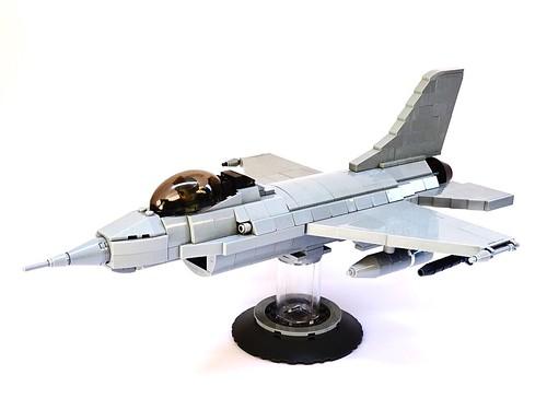 F-16 Fighting Falcon LEGO Model, 1:40 Scale