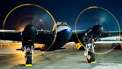 .@FlyingHeritage Mossie Running at Night in