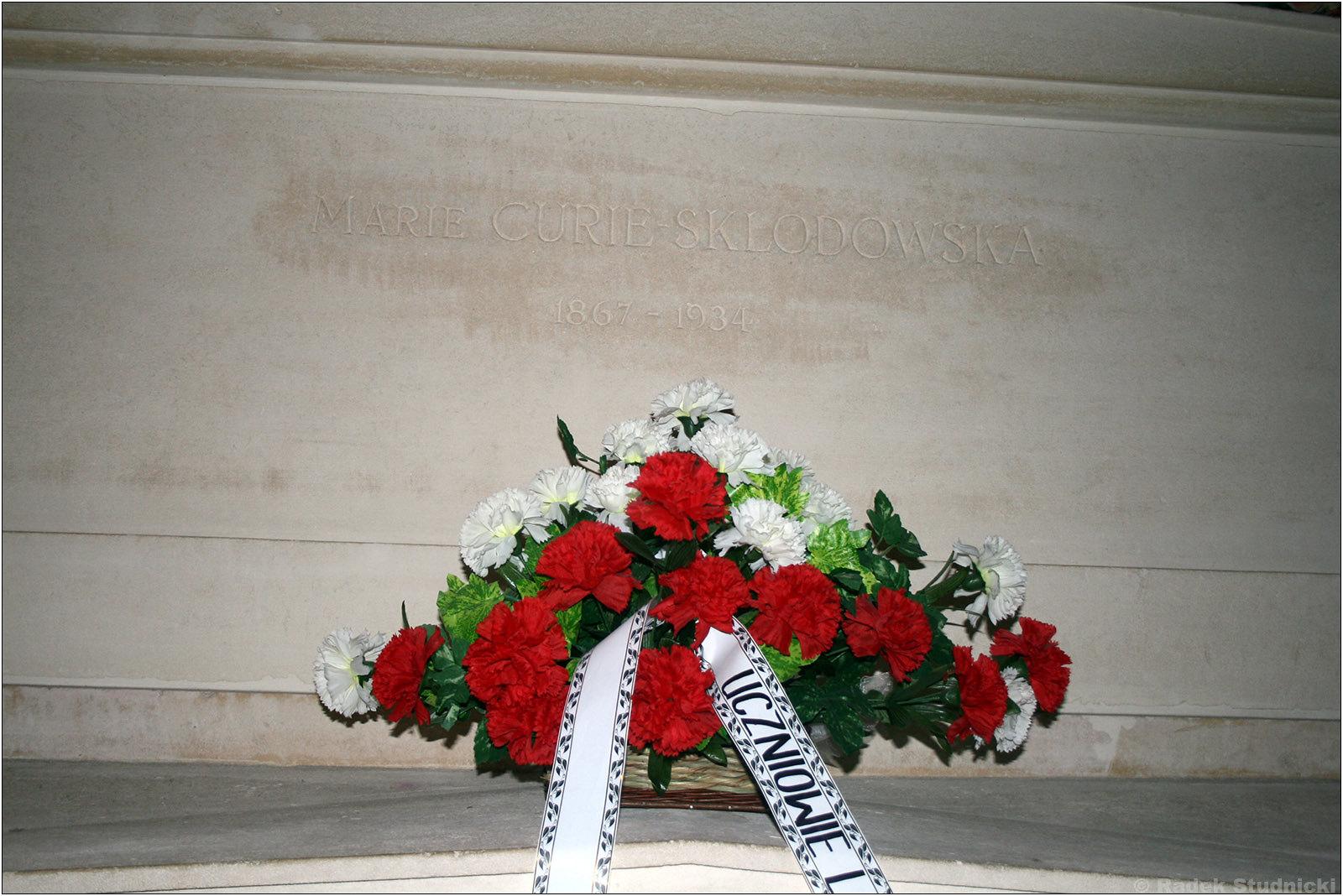 Grób Marii Skłodkowskiej-Curie w Panteonie