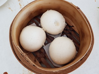 Steamed Custard Buns at Easy House