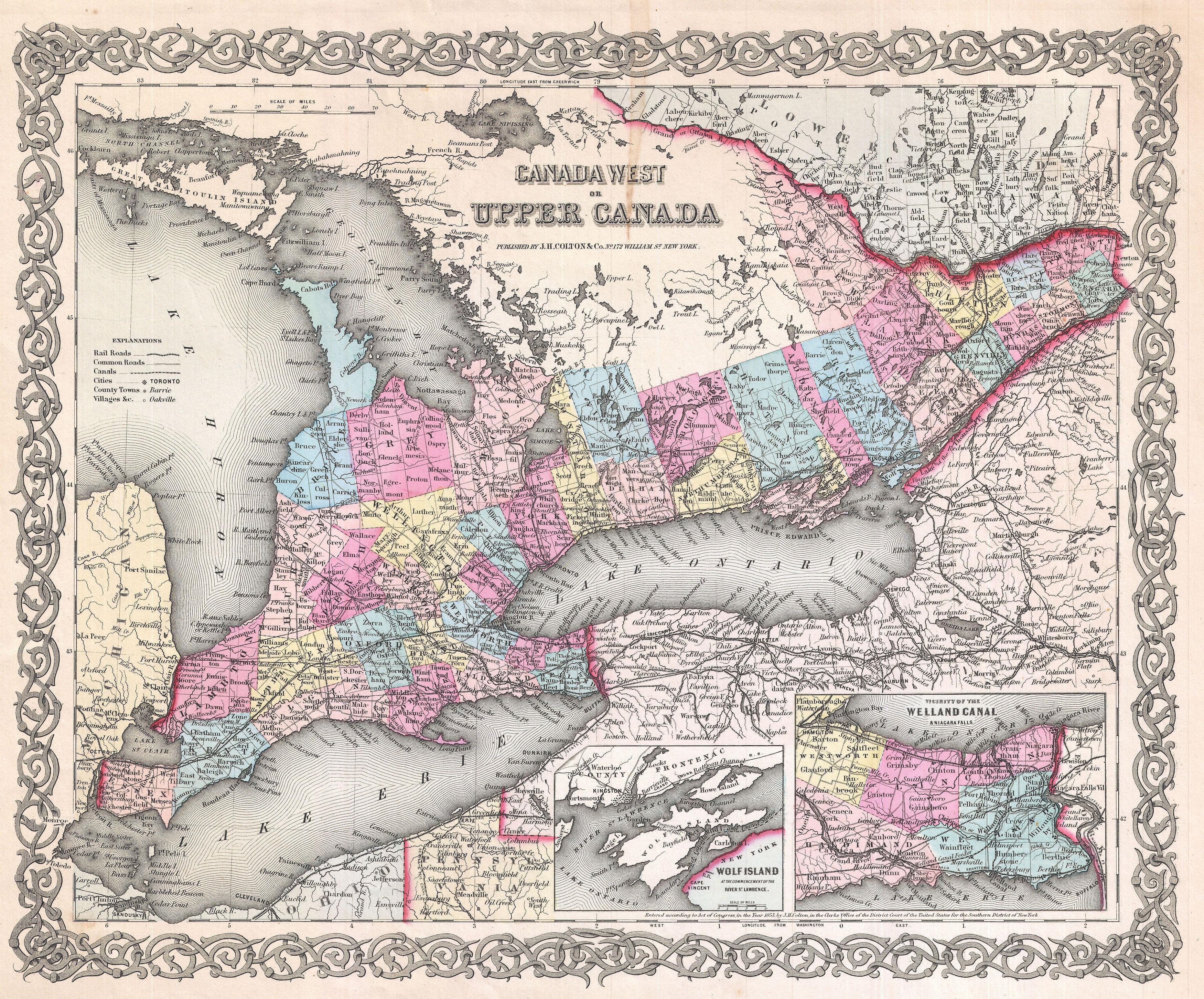 [url=https://flic.kr/p/Do8cd6][img]https://farm5.staticflickr.com/4638/24535566817_85f3909841_o.jpg[/img][/url][url=https://flic.kr/p/Do8cd6]1855_Colton_Map_of_Upper_Canada_or_Ontario_-_Geographicus_-_Ontario2-colton-1855[/url] by [url=https://www.flickr.com/photos/am-jochim/]Mark Jochim[/url], on Flickr