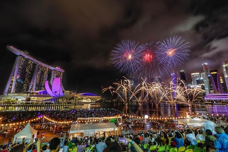 Countdown 2018 Fireworks Singapore