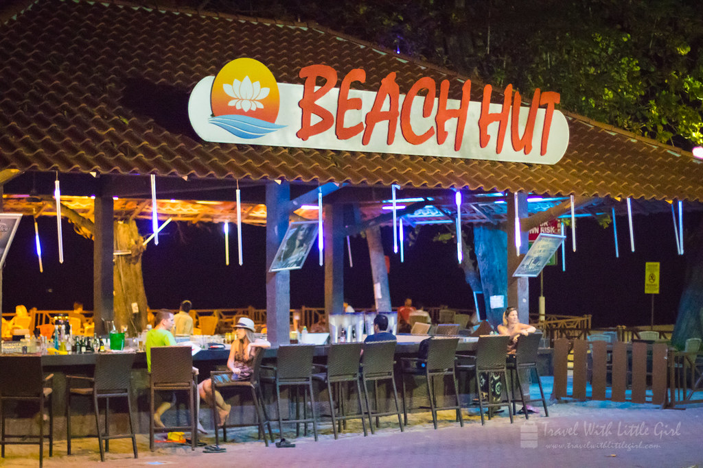 Enjoying our last night at Beach Hut, Lotus Desaru
