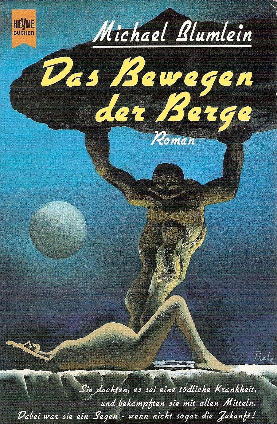 """Karel Thole - Cover for Michael  Blumlein's """"Das Bewegen der Berge""""  1994"""