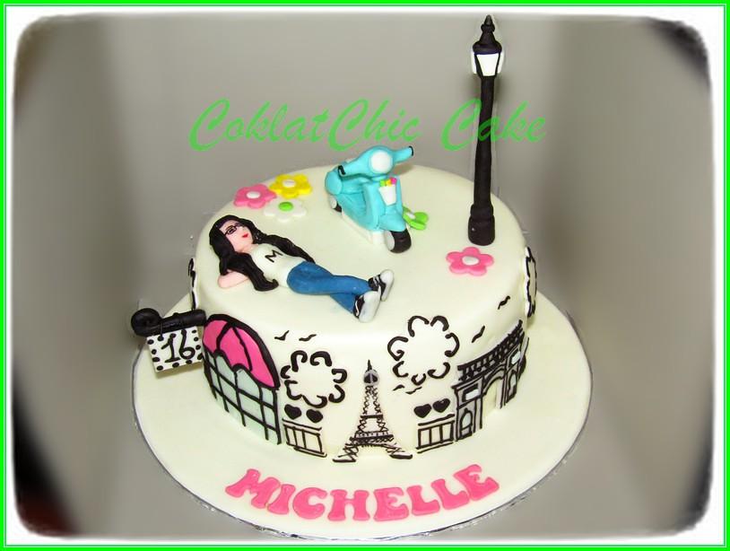Cake Vespa Paris MICHELLE 15cm