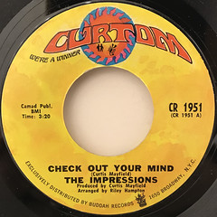 THE IMPRESSIONS:CHECK OUT YOUR MIND(LABEL SIDE-A)