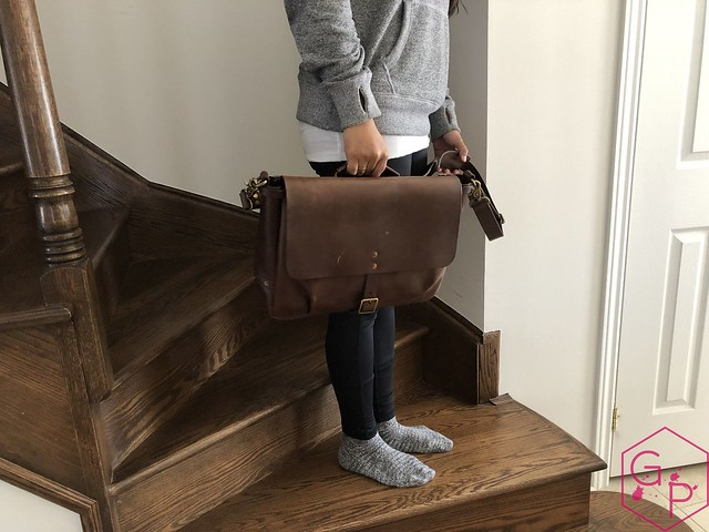 Review @SatchelandPage Brown Leather Slim Mailbag 6
