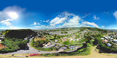 Papakolea and Puowaina - an aerial 360 Equirectangular VR from 205 feet