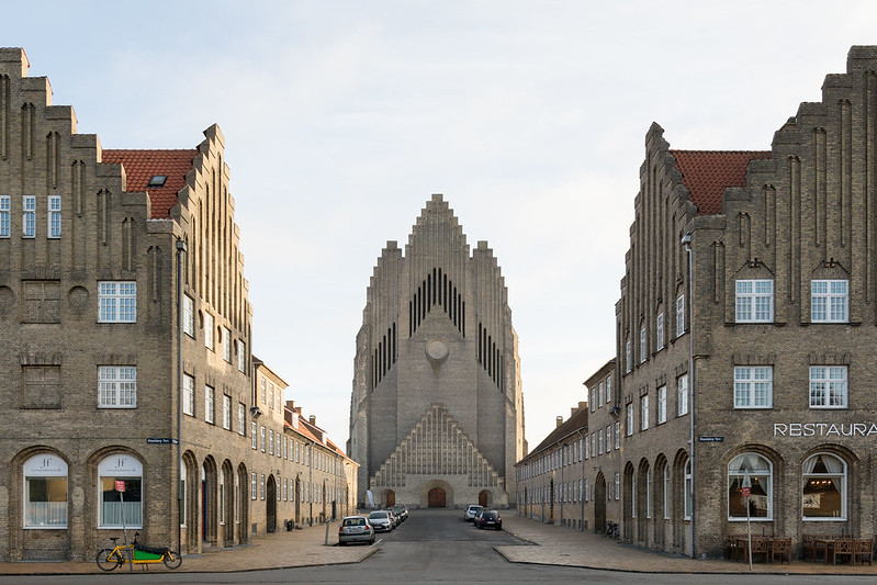 Grundtvig's Church by Peder Vilhelm Jensen Klint