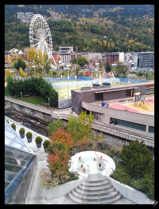 Balnearios y spas de Andorra - Jacuzzi exterior de Caldea