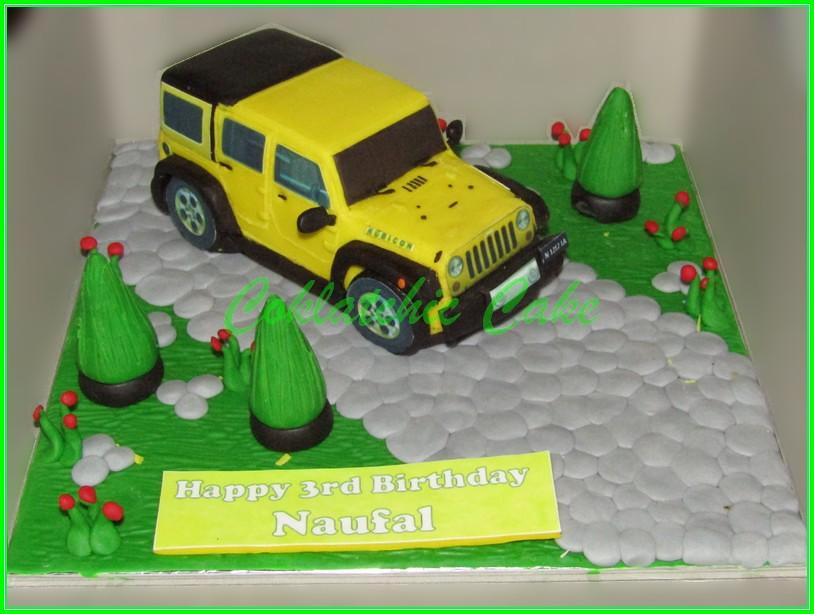 Cake Mobil Jeep Wrangler 15 Cm