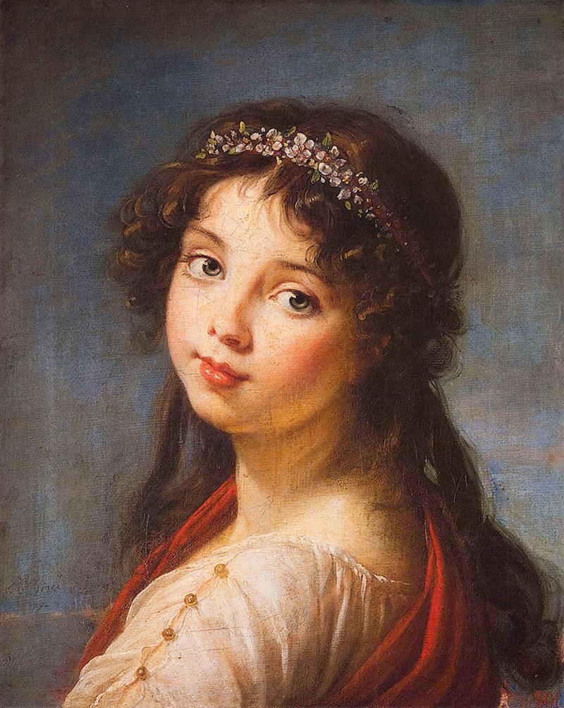 Julie Le Brun by Élisabeth Vigée Le Brun, 1789