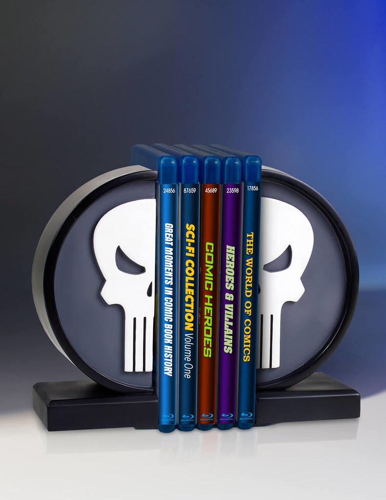 以令人聞風喪膽的暴力作風讓你自發性地整理書本~!Gentle Giant【制裁者白骷髏標誌書擋】The Punisher Logo Bookend
