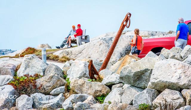 Peggy's Cove anchor in the rocks DSC_3117  ancre dans les rochers
