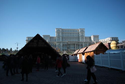 Mercatino di natale in piazza del parlamento