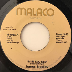 JAMES BRADLEY:I'M IN TOO DEEP(LABEL SIDE-A)