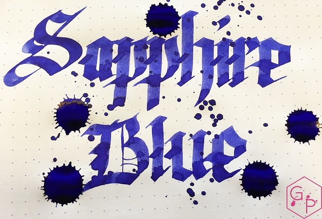 Ink Shot Review Diamine Sapphire Blue @BureauDirect 8
