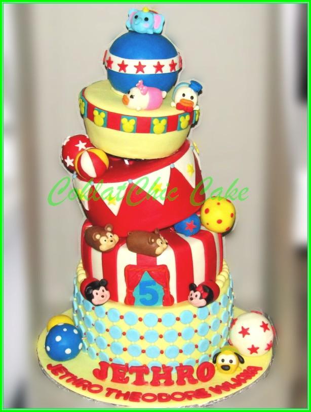 Cake Tsum Tsum JETHRO 20cm+18cm+15cm+12cm+10cm