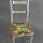 Alan Olson; Square Chair; Item 130 - in SITu: Art Chair Auction