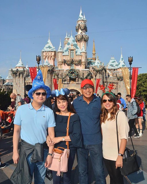 family picture,  Disney castle  Dec 24, 2017