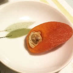 1st time trying ichidagaki. A dried persimmon from Shinshu...delicious❤︎ ・ ・ ・ #市田柿 #長野 #信州 #柿 #ichidagaki #persimmon #nagano #shinshu #大阪 #osaka #japan #ドライフルーツ #driedfruit