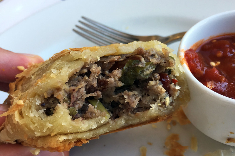 Duck sausage roll, Jackman & McRoss