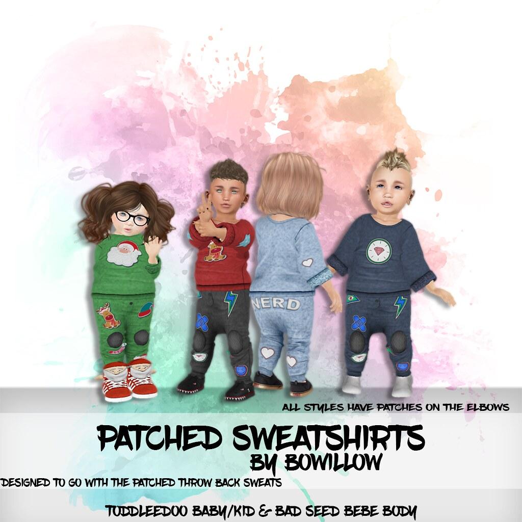 Patched Sweatshirts Ad - TeleportHub.com Live!