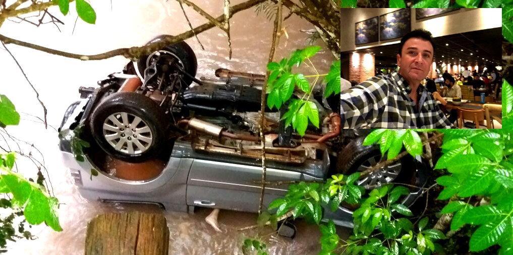 Empresário e irmão de suplente de vereador morre após carro cair em igarapé, Régis Promissória, acidente automobilístico