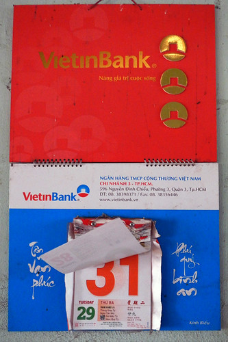 Vietnamese calendar opening up to December 31, 2013