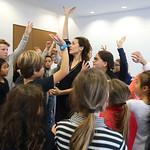 Anabel Veloso initie les écoliers de Soustons au flamenco