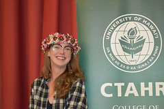 """A CTAHR graduate at the college's convocation ceremony on December 8.  View more photos at CTAHR's Flickr site: <a href=""""https://www.flickr.com/photos/ctahr/sets/72157690935002195/with/27241438299/"""">www.flickr.com/photos/ctahr/sets/72157690935002195/with/2...</a>"""