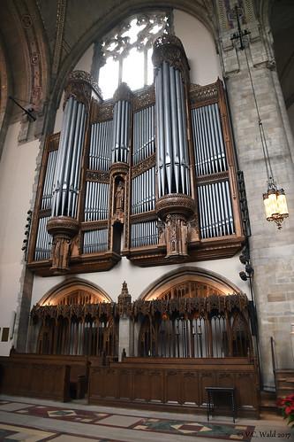 Pipes of the E.M. Skinner Opus 634 organ, Rockefeller Memorial Chapel