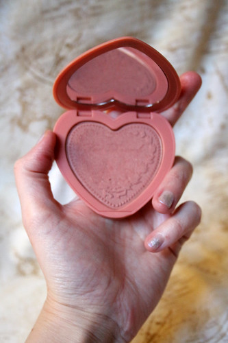 My fave blush, without pretty embossing