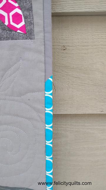 Round Robin quilt binding