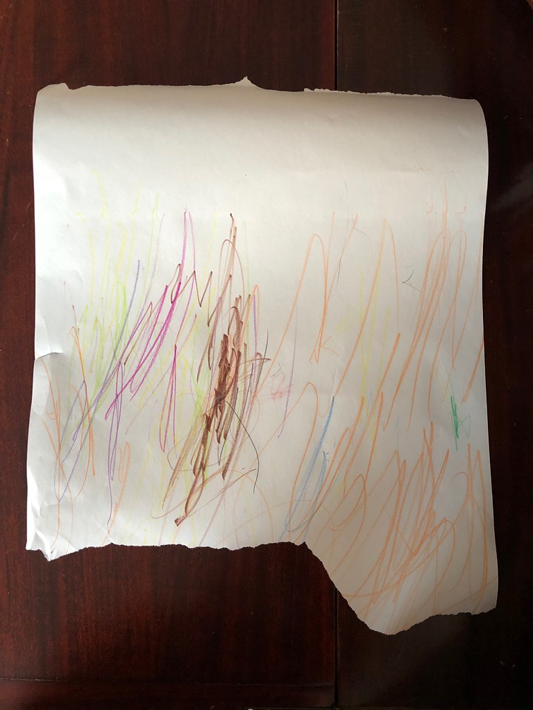 Kids' artwork turned into gift wrap