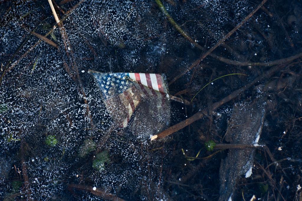 frozen flag