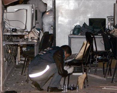 الصورة الثانية منظر أخر تفجير نادي أنترنت بالدار البيضاء