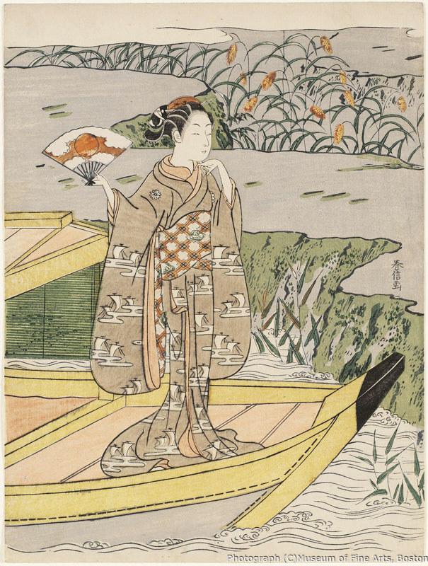 鈴木春信《見立玉虫 屋島の合戦》(1766-67年頃)