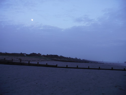 The Moon over West Wittering Beach