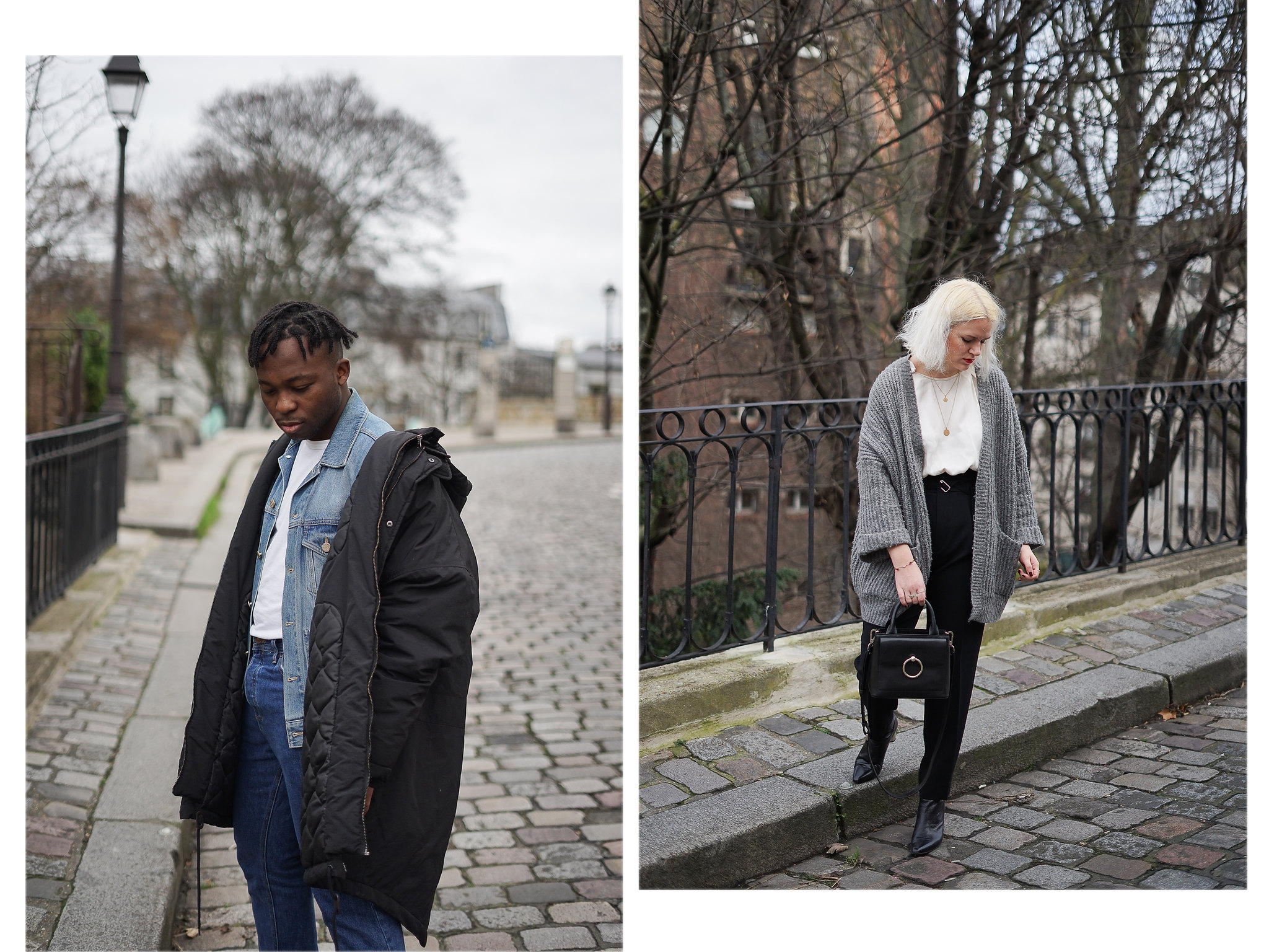look couple mode paris balenciaga zara claudie pierlot streetstyle